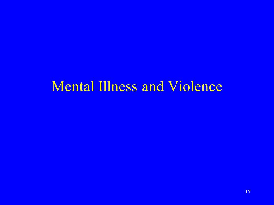 17 Mental Illness and Violence