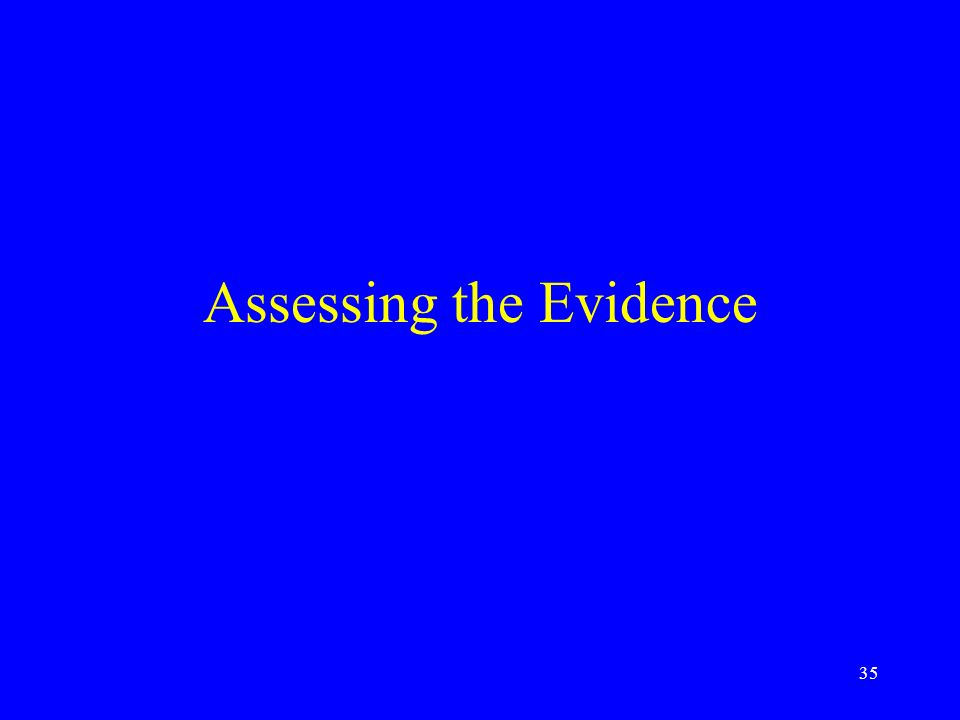 35 Assessing the Evidence