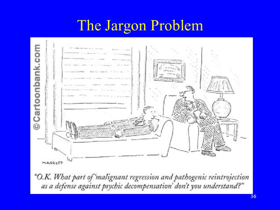 36 The Jargon Problem