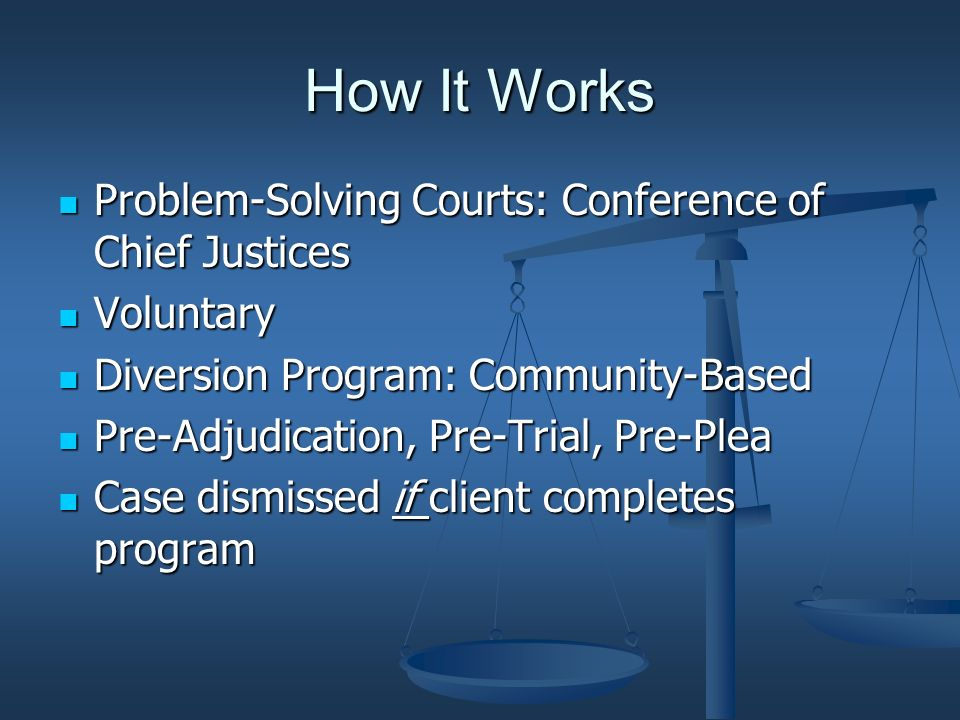 How It Works Offense; Case Filed Offense; Case Filed Detected as potential for Mental Health Court from many sources.