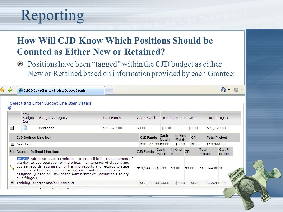 Reporting How Will CJD Know Which Positions Should be Counted as Either New or Retained.
