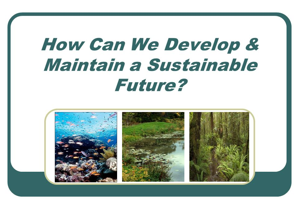 How Can We Develop & Maintain a Sustainable Future?