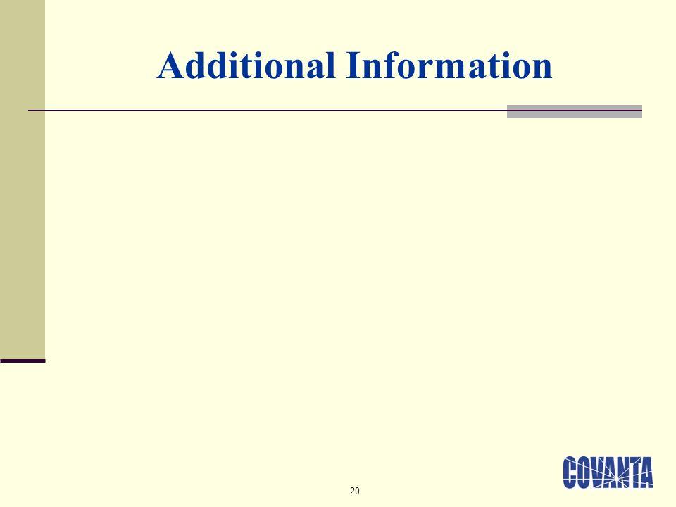 20 Additional Information