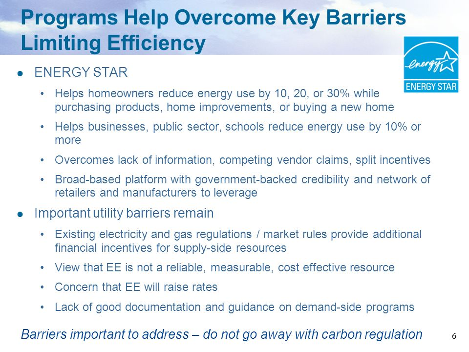 7 Todays energy challenges and EE Issues Garnering Increased Interest Quick start EE programs Aligning utility incentives with EE Incorporating EE as a resource in utility planning processes Cost-effectiveness tests State examples Resources and Summary
