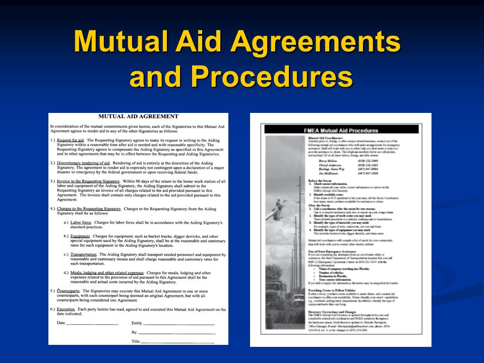 Mutual Aid Agreements and Procedures