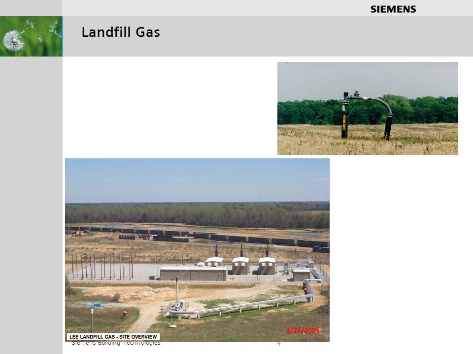 .............. Siemens Building Technologies 4 Landfill Gas