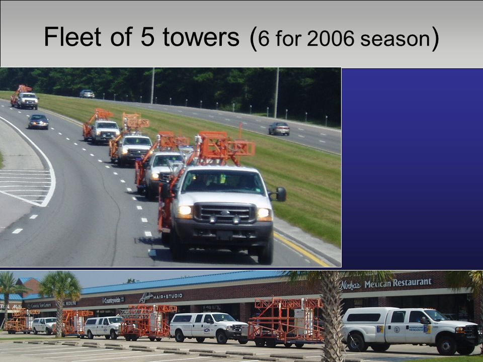 Fleet of 5 towers ( 6 for 2006 season )