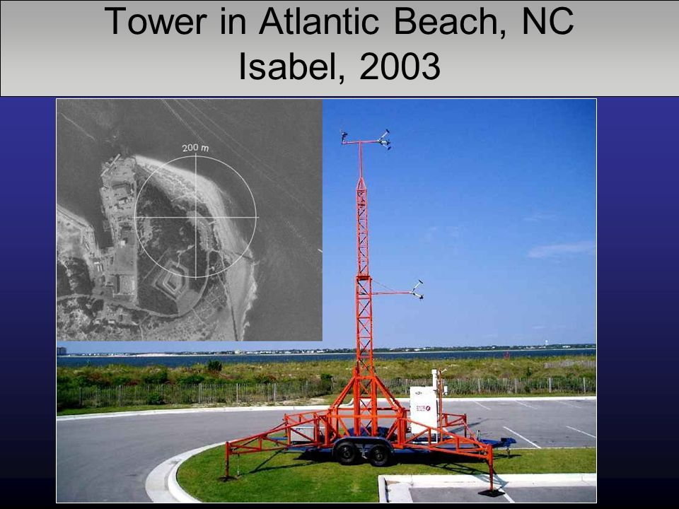 Tower in Atlantic Beach, NC Isabel, 2003