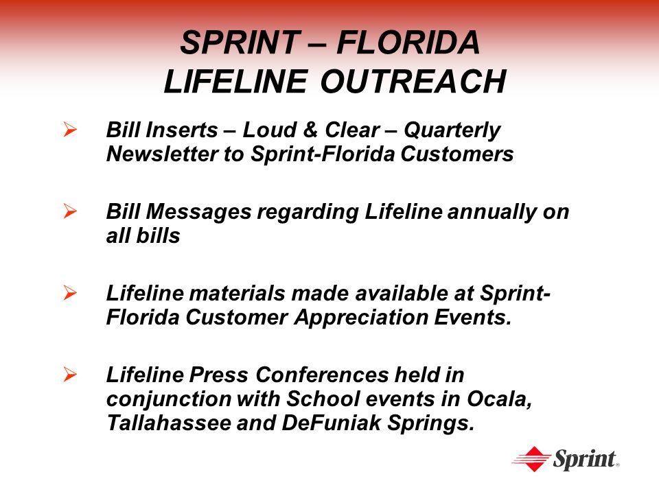 SPRINT – FLORIDA LIFELINE SUBSCRIBERSHIP