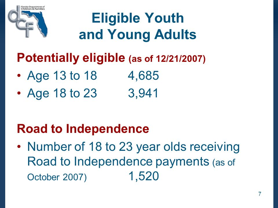 18 Percent Who Have Experience At Least One Night of Homelessness in Past Year Road to Independence: n=1,162 Not Road to Independence: n=1,049