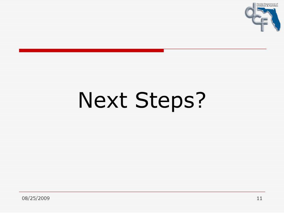 08/25/200911 Next Steps?