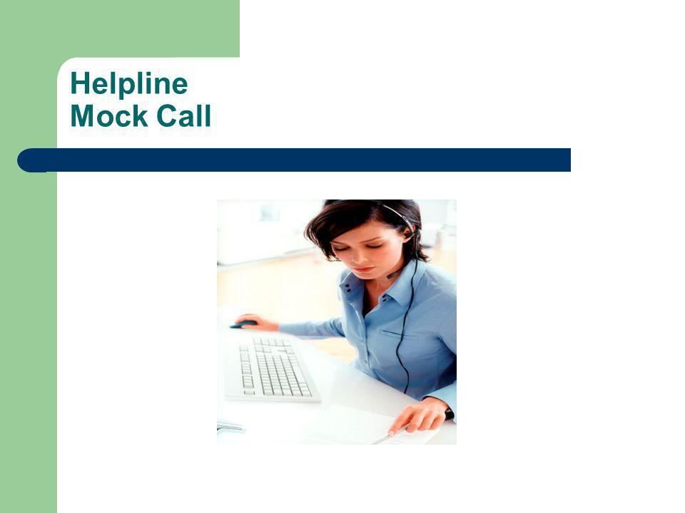 Helpline Mock Call