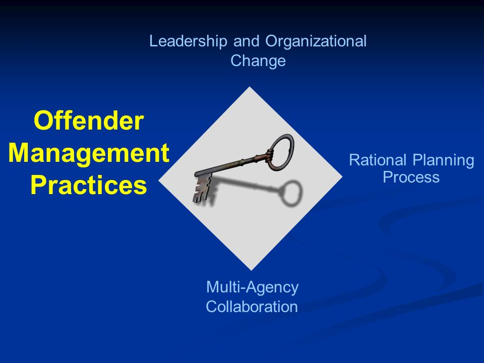 Leadership and Organizational Change Multi-Agency Collaboration Offender Management Practices Rational Planning Process
