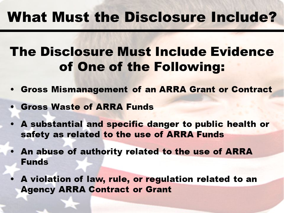 What Must the Disclosure Include.