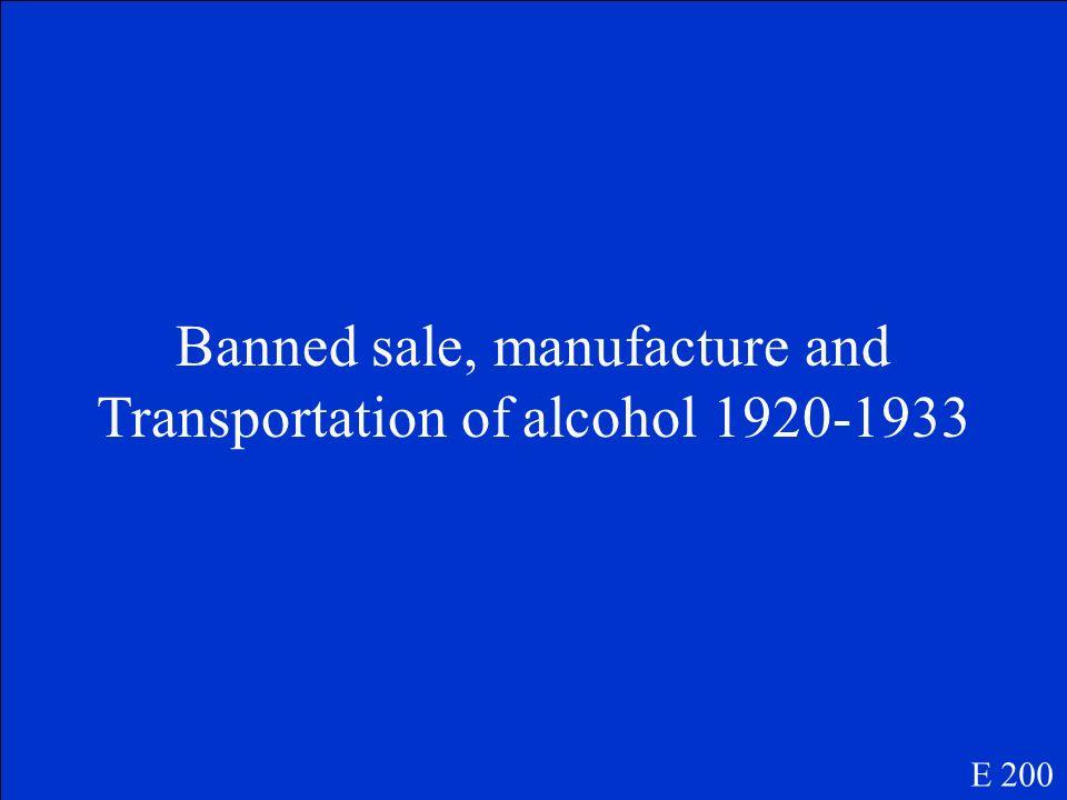 Prohibition E 200