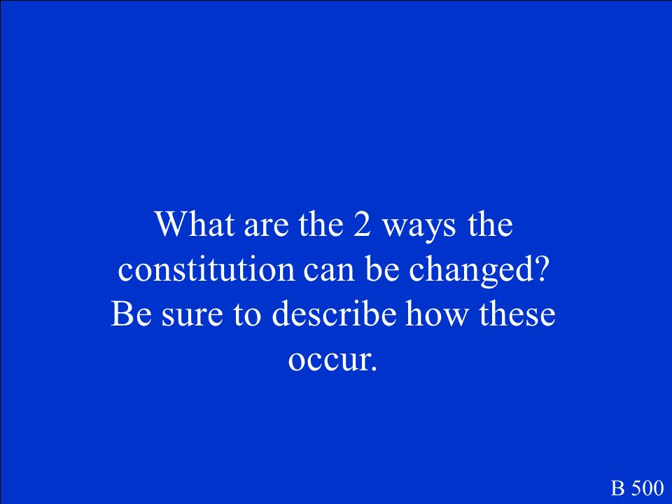 Legislative - Create laws - Control how money is spent - Impeach officials Executive -Nominate supreme court justices Judicial -Rule laws and actions unconstitutional
