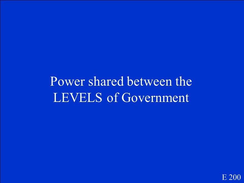 Define Federalism E 200