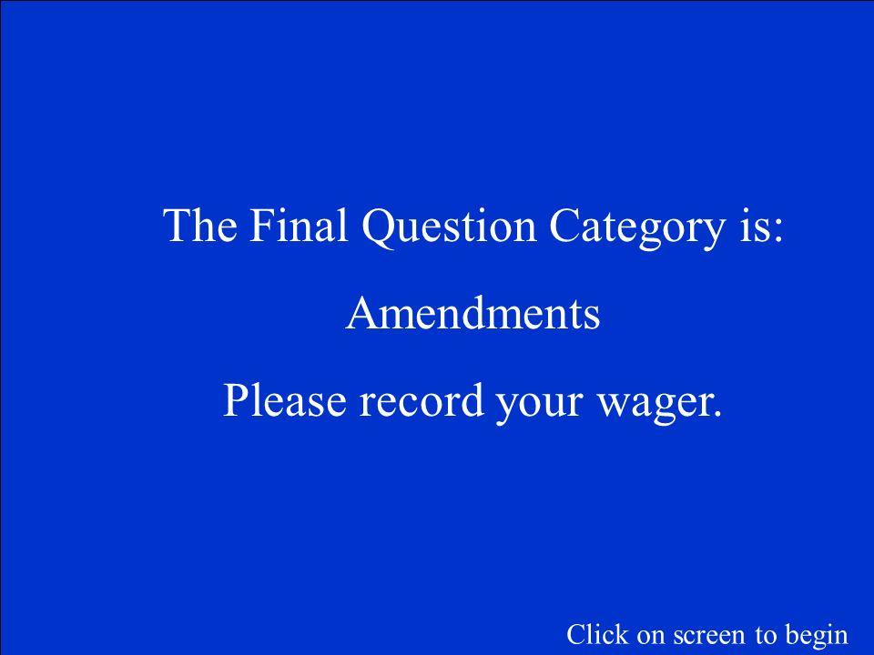 Judicial, Legislative, Executive Supreme Court, Congress, President Articles I-III F 500