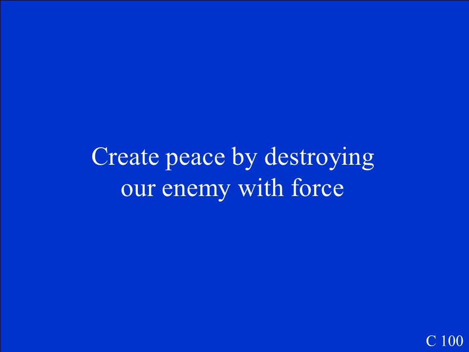 Define Pax Americana C 100