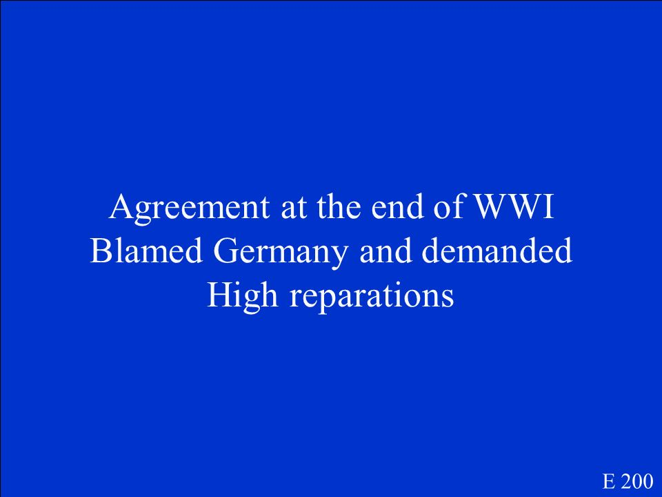 Treaty of Versailles E 200