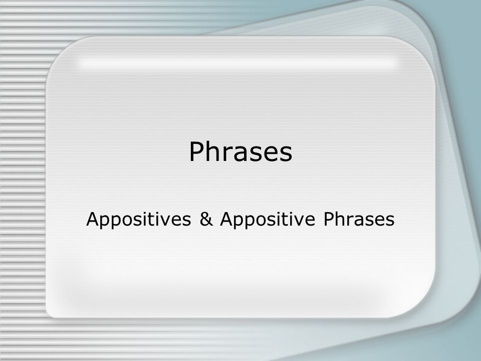 The word appose means to place near or next to.