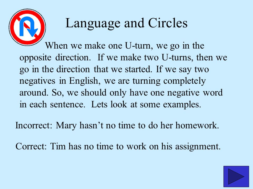 Excellent Work! Click on the button. Lets go on to the next grammar lesson. The third person singular in the present tense needs an s. So the problem