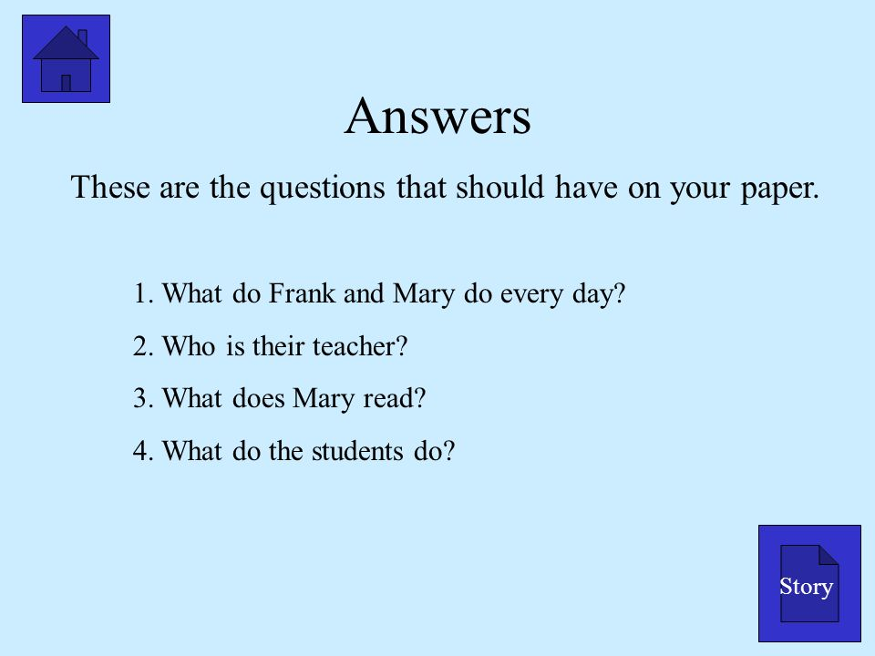 These are the questions that should have on your paper.