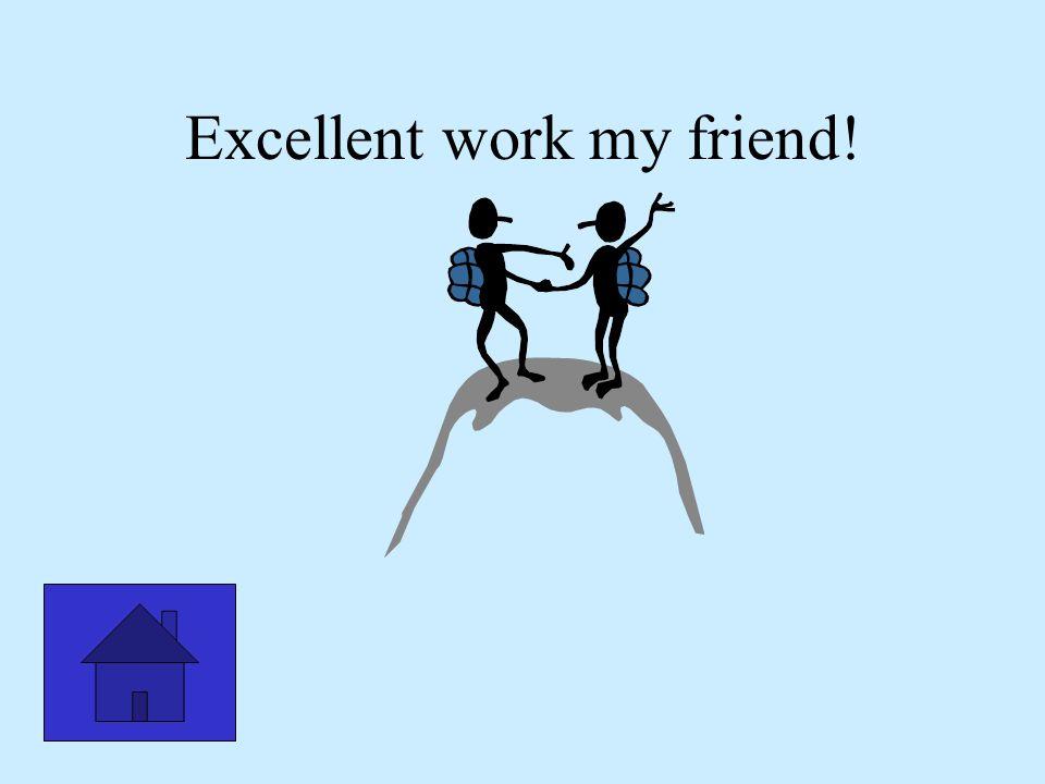 Excellent work my friend!