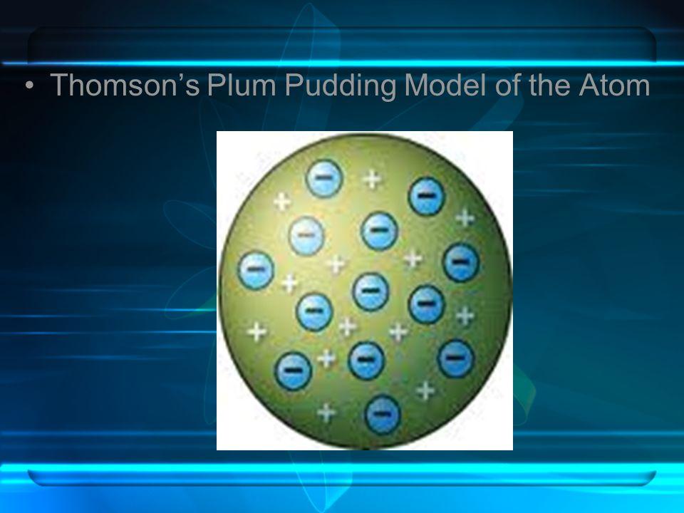 Thomsons Plum Pudding Model of the Atom