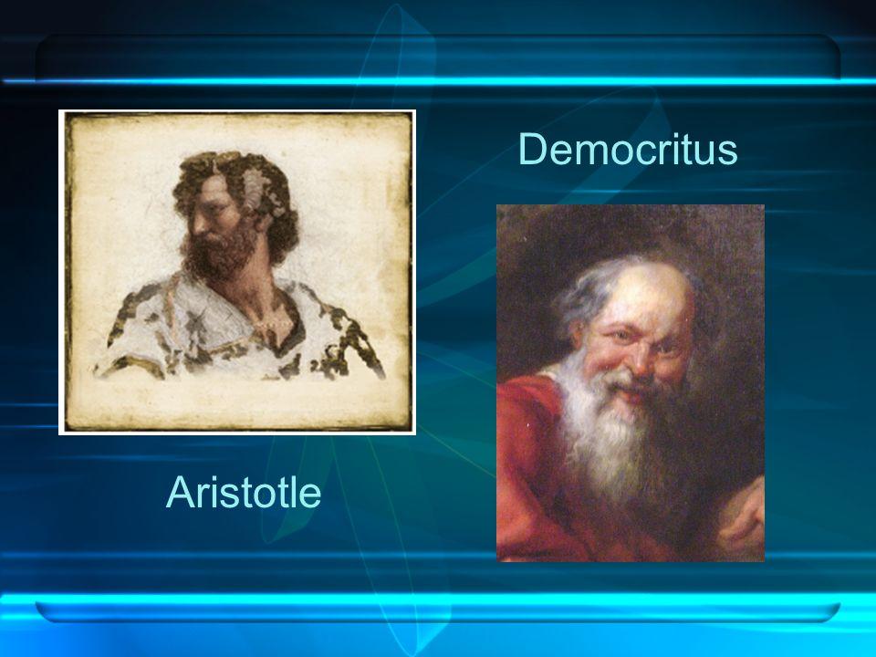 Aristotle Democritus