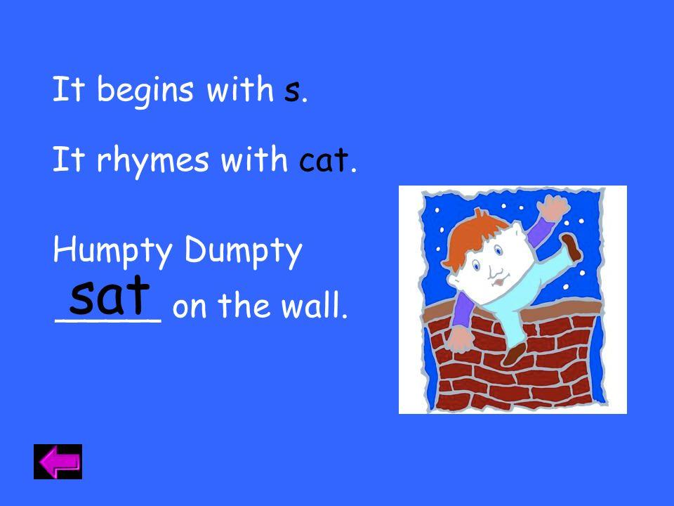 I meow. cat. I start with c.c. I am a I rhyme with sat.