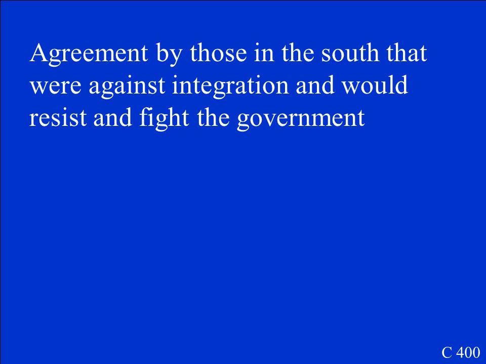 Southern Manifesto C 400
