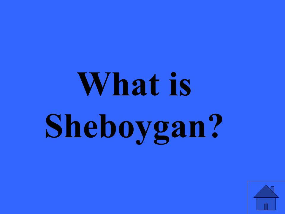 What is Sheboygan?