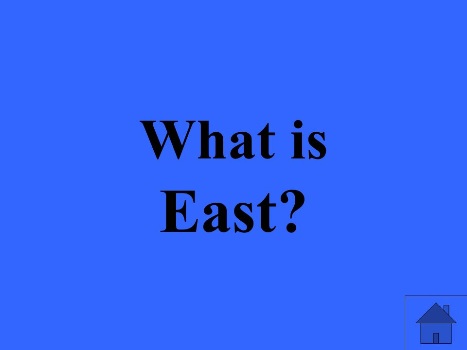 What is East?