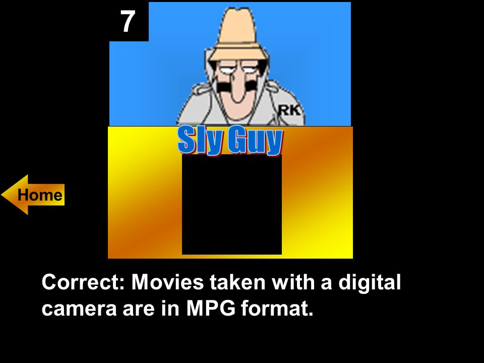 7 Movies taken with a digital camera are in what file format
