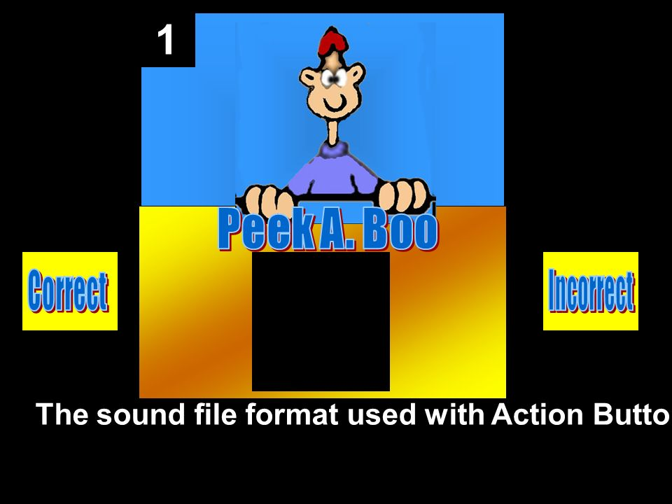 1 The sound file format used with Action Button.