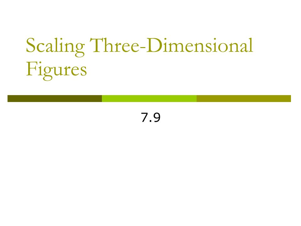 Pre-Algebra 7.9 Scaling Three-Dimensional Figures