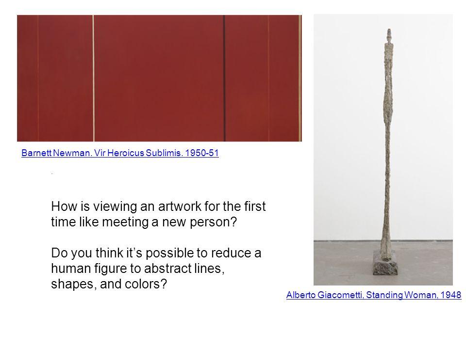 Alberto Giacometti, Standing Woman, 1948.