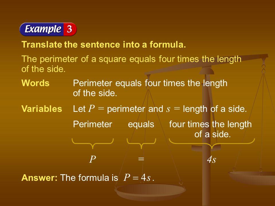 Deriving a Formula
