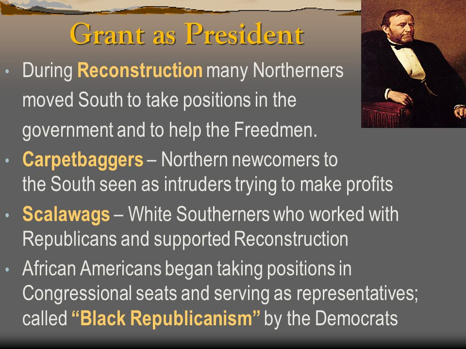ELECTION OF 1868 Election of 1868 – Johnson did not run for re-election which left Union general U.S. Grant as the Republican nominee for president Gr