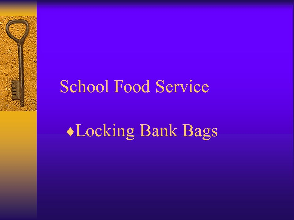 School Food Service Locking Bank Bags