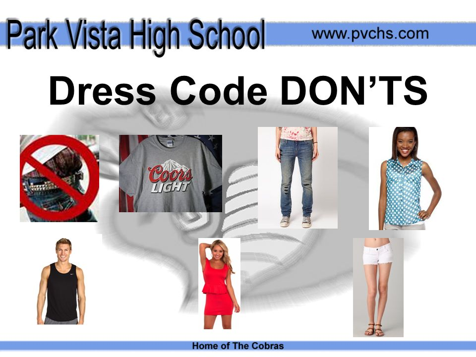 Dress Code DONTS