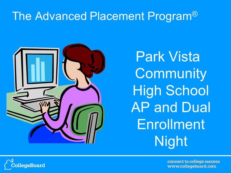 The Advanced Placement Program ® Park Vista Community High School AP and Dual Enrollment Night
