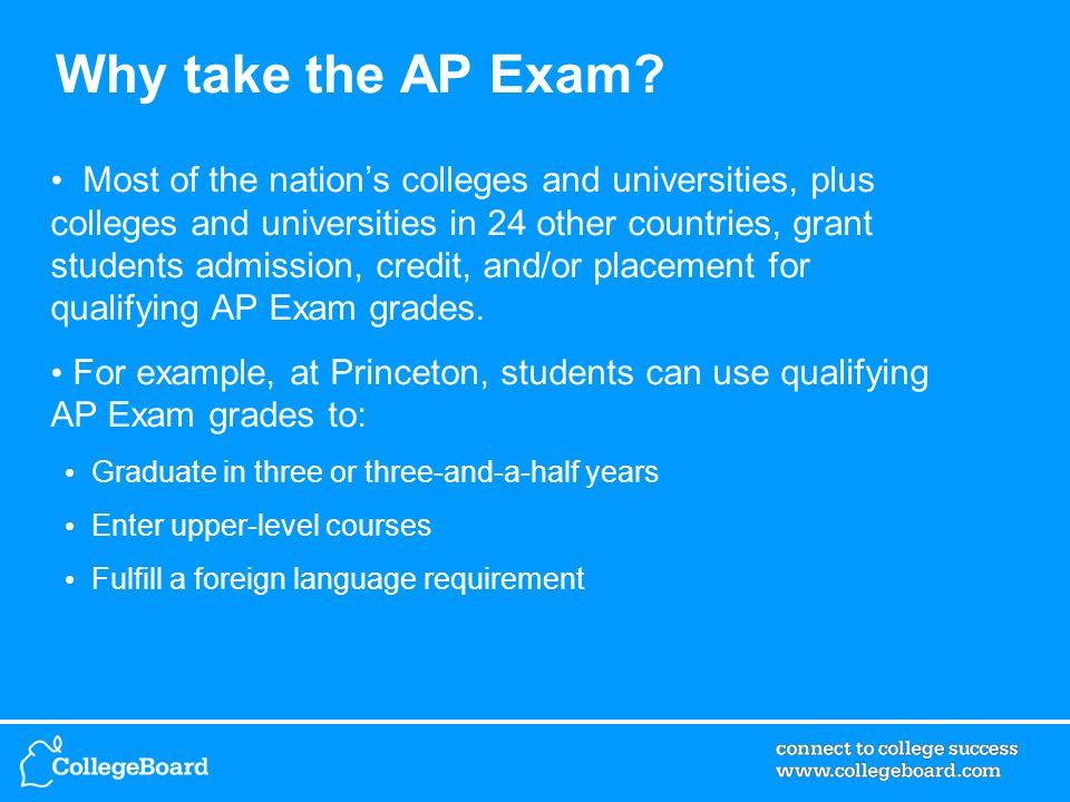 Why take the AP Exam.