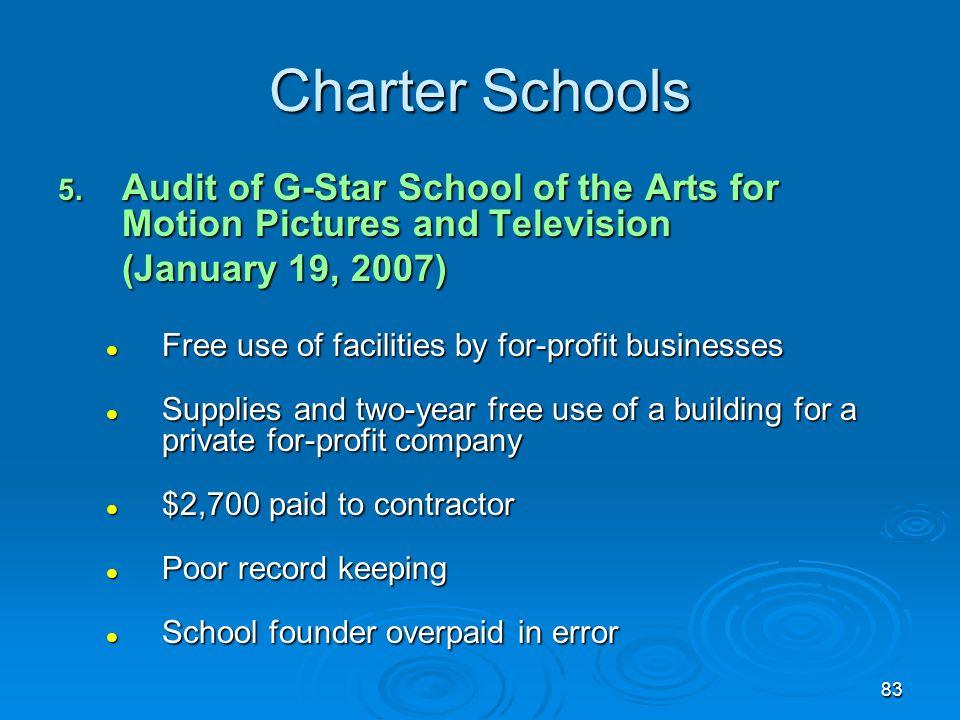83 Charter Schools 5.