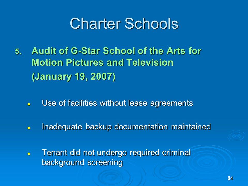 84 Charter Schools 5.