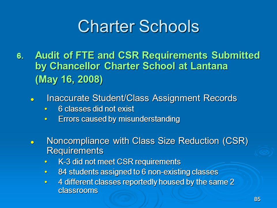 85 Charter Schools 6.