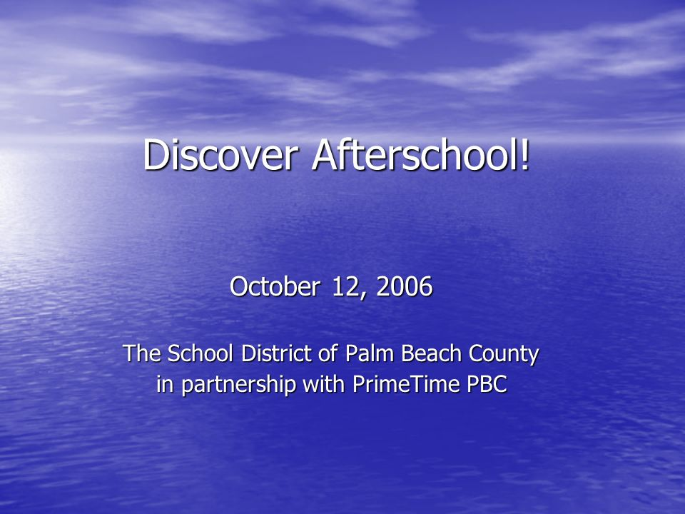 Discover Afterschool.