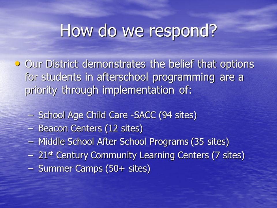 How do we respond.