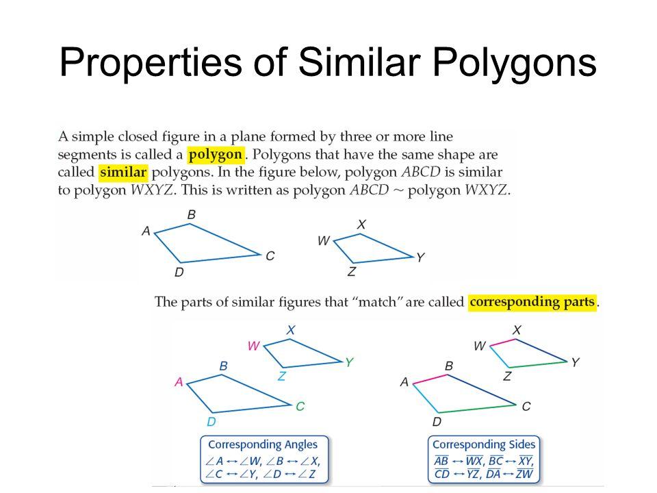Properties of Similar Polygons